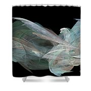 Angel Dove Shower Curtain by Elizabeth McTaggart