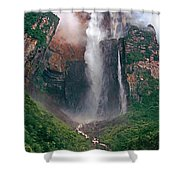 Angel Falls In Venezuela Shower Curtain