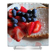 Angel Food And The Berries Shower Curtain