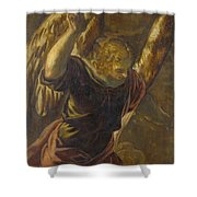 Angel From The Annunciation To The Virgin Shower Curtain