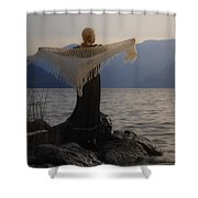 Angel In Sunset Shower Curtain