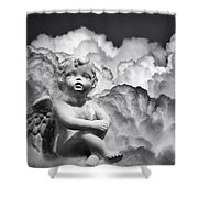 Angel In The Clouds Shower Curtain