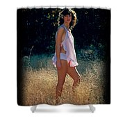 Angel In The Grasses 3 Shower Curtain