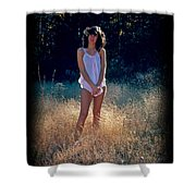 Angel In The Grasses Shower Curtain