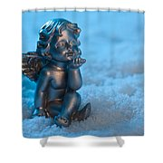Angel In The Snow Shower Curtain