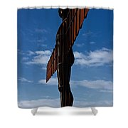 Angel In The Snow Vi Shower Curtain