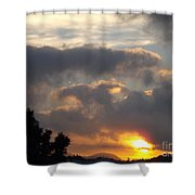 Angel In The Sunrise Shower Curtain