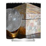 Angel In The Window Still Life Shower Curtain