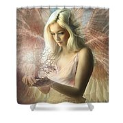 Angel Jehoel Shower Curtain
