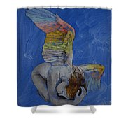 Angel Shower Curtain by Michael Creese