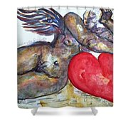 Angel Of Contentment Shower Curtain