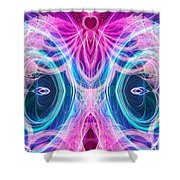 Angel Of Courage Shower Curtain