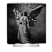 Angel Of Death Bw Shower Curtain