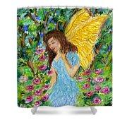 Angel Of The Garden Shower Curtain