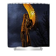Angel Of The Morning Textured Shower Curtain