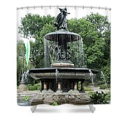 Angel Of The Waters Fountain Shower Curtain