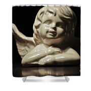 Angel On The Table Shower Curtain