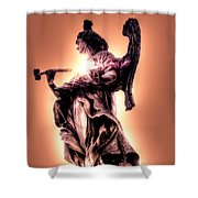 Angel Or Judge Shower Curtain