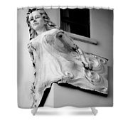 Angel Out The Window Shower Curtain