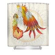 Angel Phoenix Shower Curtain