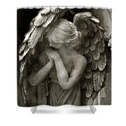 Angel Photography Spiritual Angel  - Guardian Angel In Prayer - Angel Praying  Shower Curtain