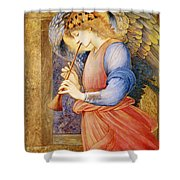 Angel Playing A Flageolet Shower Curtain