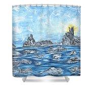 Angel Rock Shower Curtain
