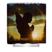 Angel Silhouette Shower Curtain