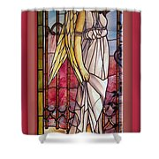 Angel Stained Glass Window Shower Curtain by Thomas Woolworth