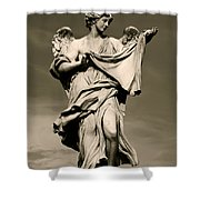 Angel Statue Shower Curtain