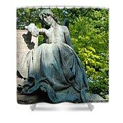 Angel Statue Shower Curtain