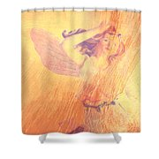 Angel Time  Shower Curtain