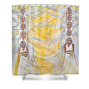 Angel Winds Flames Of Fire Shower Curtain