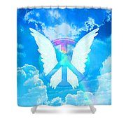 Angel Wings Shower Curtain
