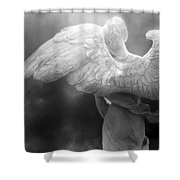 Angel Wings - Dreamy Surreal Angel Wings Black And White Fine Art Photography Shower Curtain