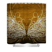 Angel Wings Gold Shower Curtain