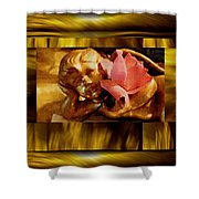 Angel With Floral On Clouds Shower Curtain