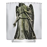 Angel With Trumpet Shower Curtain