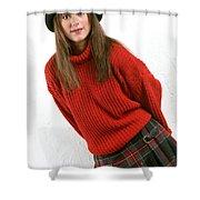 Angela Plaid Skirt Shower Curtain