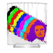 Angela Rainbow-2 Shower Curtain