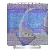 Angelfish3 Shower Curtain