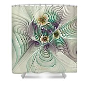 Angelic Entities Shower Curtain by Deborah Benoit