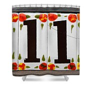 Angelic Numbers By Diana Sainz Shower Curtain