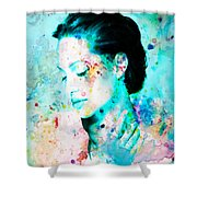 Angelina Jolie Heart And Soul Shower Curtain
