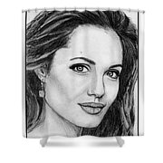 Angelina Jolie In 2005 Shower Curtain