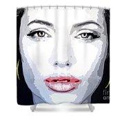 Angeline Jolie Shower Curtain