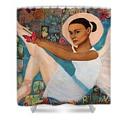 Angelique Earthangel From France Shower Curtain