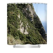 Angelo Castle Corfu Greece Shower Curtain
