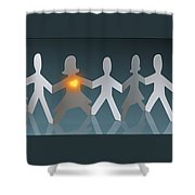 Angels Among Us3 Shower Curtain
