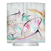 Angels Arriving Shower Curtain